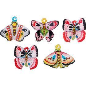 """Панно настенное """"бабочки"""" (Товар продается кратно 5шт) 10,5*8/10*8/9*8/9*8/9*8 см.-628-648"""