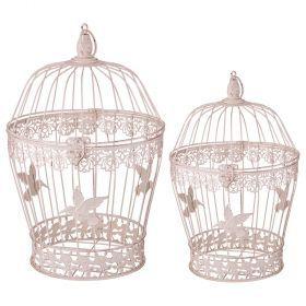 Набор клеток для птиц декоративных из 2-х шт.l:25*40,s:19*32 см-123-219