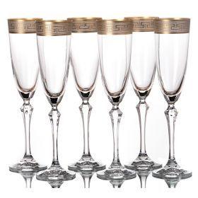 Набор бокалов для шампанского из 6 шт. элизабет 200 мл. высота=25 см.