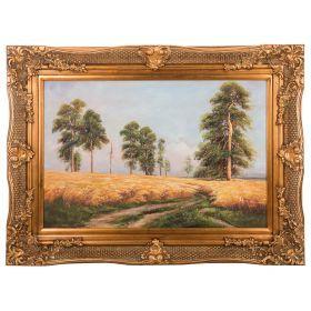 Картина масляная на холсте 89*59 см. багет 116*87 см.-107-1070