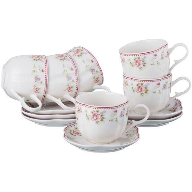 """Чайный набор на 6 персон """"екатерина"""" 12пр. 200 мл.-54-408"""