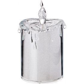 Комплект из 4-х декоративных свечей диаметр=7,5 см высота=14 см дизайн: горный хрусталь (кор=12комп.-234-129