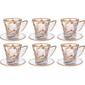 Чайный набор лаурус на 6 персон 12 пр. 150 мл.