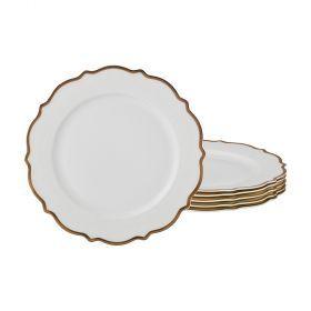 Набор из 6-ти десертных тарелок диаметр=20 см (кор=10набор.)-115-311