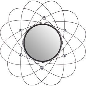 Зеркало настенное диаметр=54 см. зеркала=25 см.-764-027