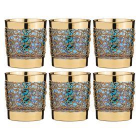 Набор стаканов из 6 шт.300 мл.высота=9 см.-103-522
