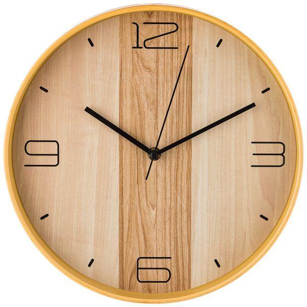 """Часы настенные кварцевые """"клен танзау"""" диаметр=30 см. диаметр циферблата=29 см. (кор=6шт.)-220-390"""