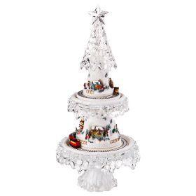 Новогодняя елочка с музыкой, подсветкой и движением диаметр=20 см высота=45 см-234-146