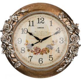 Часы настенные кварцевые 46*9*44 см. диаметр циферблата=30 см.-204-142