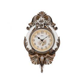 Часы настенные кварцевые коричневый слон 50*17,5*84 см. диаметр циферблата=30 см.