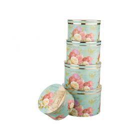 Набор подарочных коробок из 5 шт.диаметр=32/30/28/26/24 см.высота=21/19/17/16/13 см.