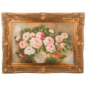 Картина масляная на холсте 89*59 см. багет 116*86 см.-107-1053