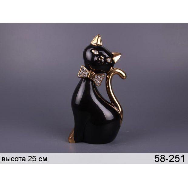 """Фигурка """"кошка черная"""" высота=27 см-58-251"""