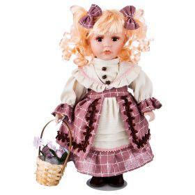 Кукла фарфоровая высота=30 см.-346-257