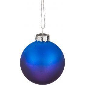 Декоративное изделие шар стеклянный диаметр=6 см. высота=7 см. цвет: синий с фиолетовым-862-124