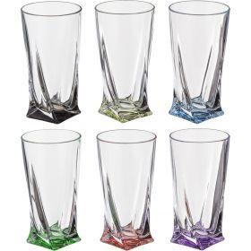 Набор стаканов для сока из 6 шт. квадро декорейшн 72т76 350 мл. высота=15 см.