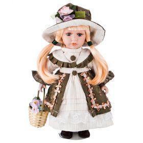 Кукла фарфоровая высота=30 см.-346-258