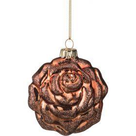 Декоративное изделие шар стеклянный 8*9*4 см. цвет: коричневый-862-057