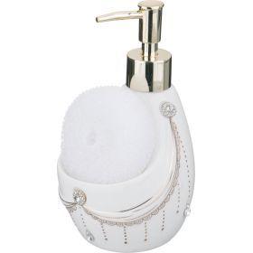 Дозатор для жидкого средства с губкой высота=17 см.-437-063