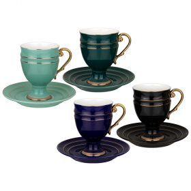 Чайный набор lefard на 4 персоны 8 пр. 250 мл микс (кор=6наб.)-91-110