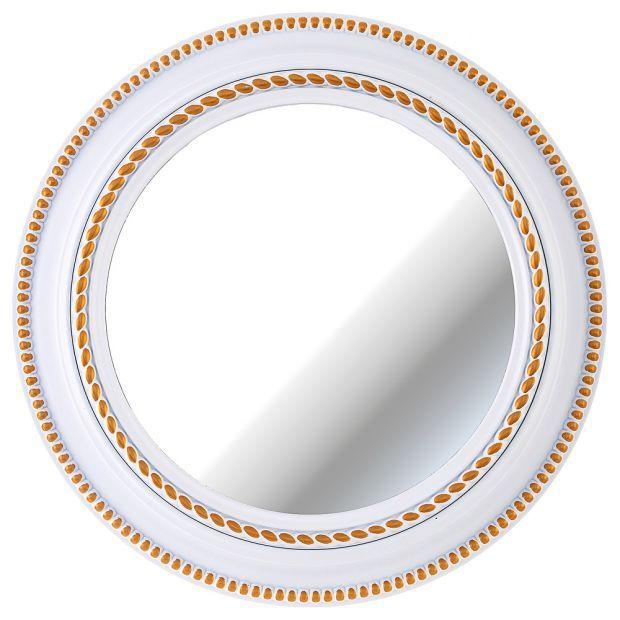 """Зеркало настенное """"lovely home"""" диаметр=52 см цвет: белый(кор=4шт.)-220-415"""