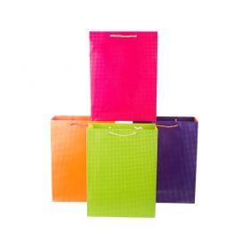 Комплект бумажных пакетов из 12 шт 40*30*12 см.4 вида-512-500