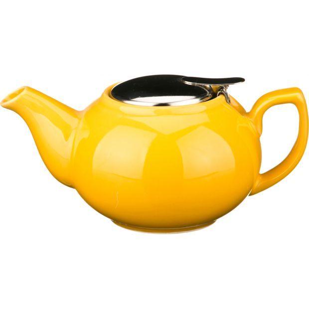 Заварочный чайник с металлической крышкой 600 мл.-470-012