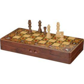 Игра для взрослых шахматы+шашки+нарды 39,5*19,4*5,8 см.
