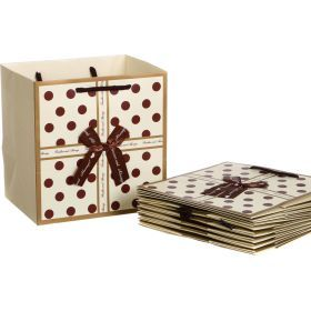 Комплект бумажных пакетов из 10 шт.22*22*16 см.-521-082