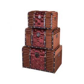 Набор сундуков декоративных из 3-х шт. l:67*42*41 m:57*35*35 s:47*29*30 см-714-059