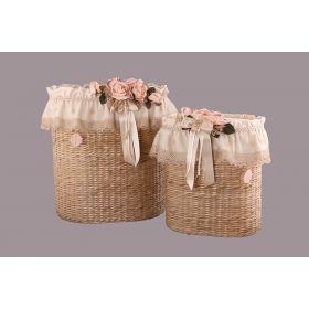 Набор корзин для белья из 2 шт. 50*38*60/40*26*45 см. без упаковки-294-510