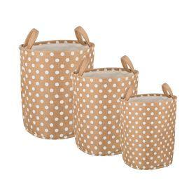 Набор корзин для белья с ручками из 3-х шт l: ф40*42/m:ф36*39/s:ф32*37 см.