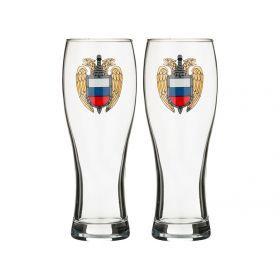 Набор бокалов для пива из 2 шт.герб 500 мл.