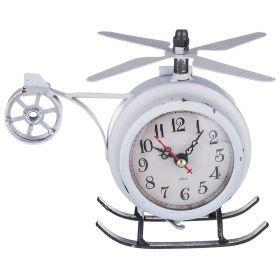Часы настольные 7*18*14,5 см. диаметр циферблата=7 см. (кор=24 шт.)-799-122