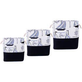 Набор корзин для белья с ручками из 3-х шт l: 43*34*42/m:39*30*39/s:35*26*37 см.-190-186