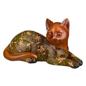 Фигурка кошка зеленая развитие творческих способностей высота=15*25*27 см
