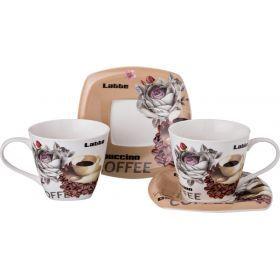 Чайный набор на 2 персоны 4пр. 220 мл.-165-371