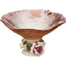 Декоративная чаша диаметр=22 см. высота=13 см.-316-1033