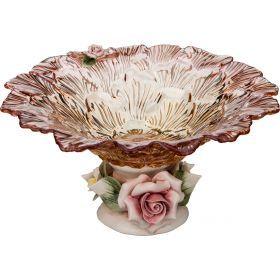 Декоративная чаша диаметр=22 см. высота=12 см.-316-1032