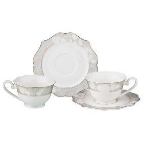 Чайный набор на 2 персоны 4 пр. 200 мл (кор=8набор.)-115-296