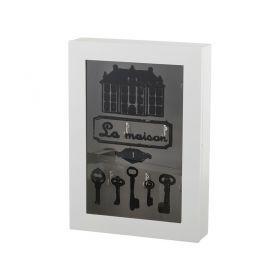 Ключница белая 23*32,5*6 см.-255-104