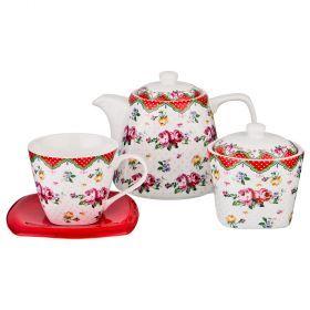 Чайный набор на 6 персон 14пр. 700/220/280 мл-165-409
