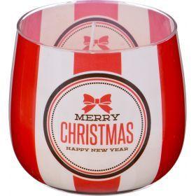 Ароматическая свеча в стакане диаметр=8 см. высота=7 см. цвет белый-602-073