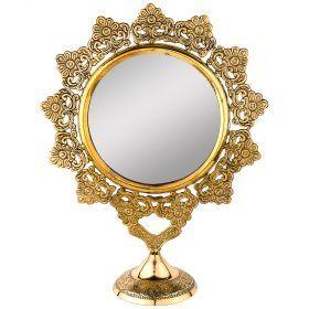 Зеркало настольное 26*10 см. высота=33 см. латунь (кор=24шт.)-733-105