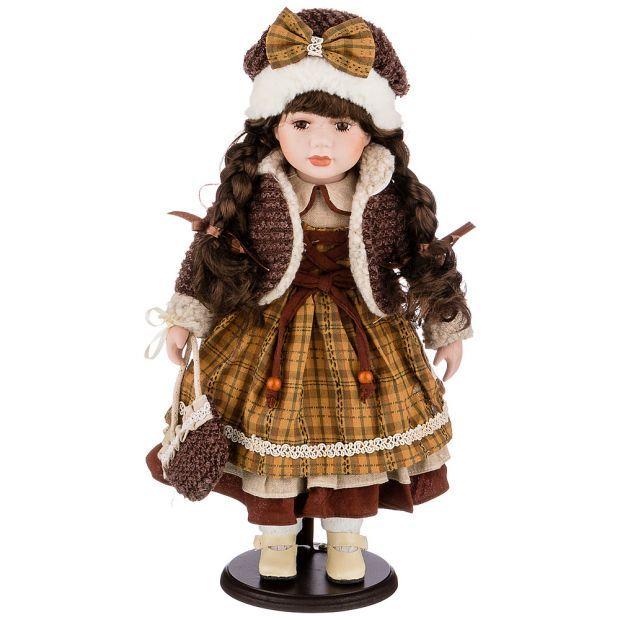 Кукла фарфоровая декоративная высота 42см-346-267