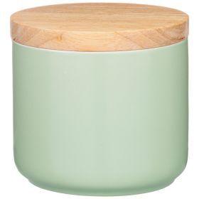 Банка для сыпучих с бамбуковой крышкой
