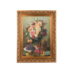Картина масляная на холсте 89*59 см. багет 116*86 см.-107-1055