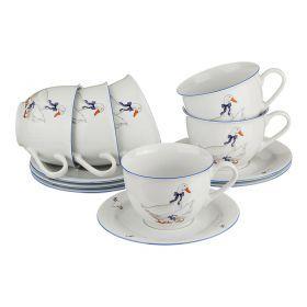 Чайный набор на 6 персон 12 пр.гуси 500 мл.высота=9 см.
