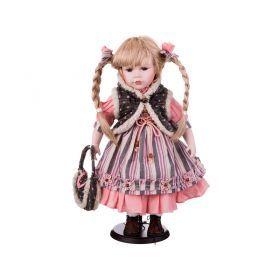Кукла фарфоровая высота=42 см.-346-231
