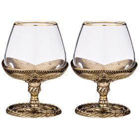 Набор из 2-х  бокалов для коньяка № 1-385-219
